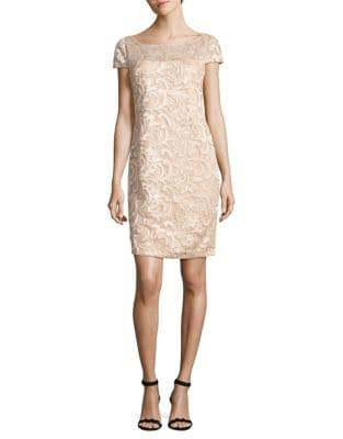 Sequined Lace Dress by Calvin Klein