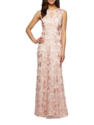 Embroidered Sleeveless Gown by Glamour by Terani Couture