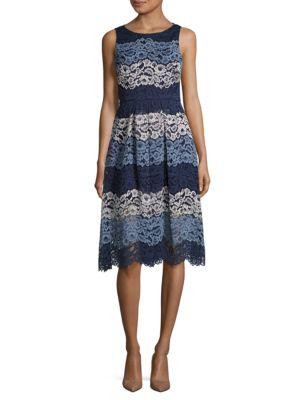 Photo of Belle Badgley Mischka Roxy Lace Dress