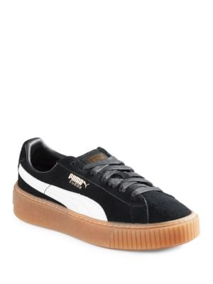 Suede Lace-Up Sneakers 500087054230