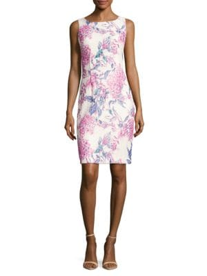 Photo of Floral Print Sheath Dress by Ivanka Trump - shop Ivanka Trump dresses sales