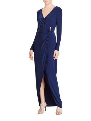 Faux-Wrap Gown by Lauren Ralph Lauren