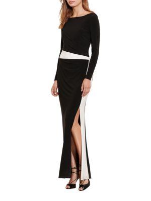 Side Slit Gown by Lauren Ralph Lauren