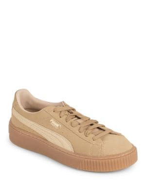 Leather Lace-Up Sneakers by PUMA