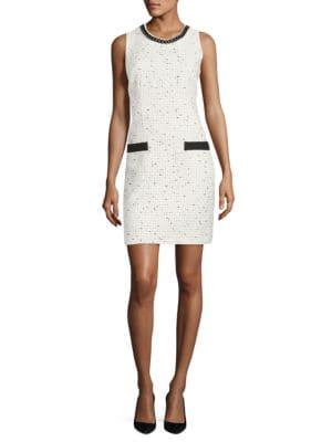 Tweed Sleeveless Dress by Karl Lagerfeld Paris