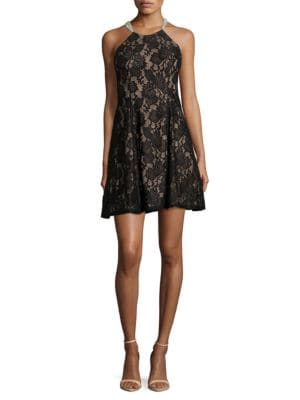 Lace Halter Dress by Betsy & Adam