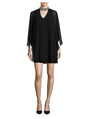 012335c5ba2 Lauren Ralph Lauren. Cape-Overlay Chiffon Gown.  230.00 · Xscape -  Embellished Choker Overlay Dress
