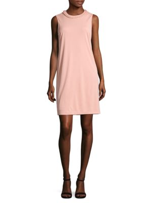 Braided-Neck Sheath Dress by DKNY