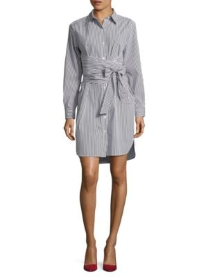 Striped Shirt Dress by DKNY