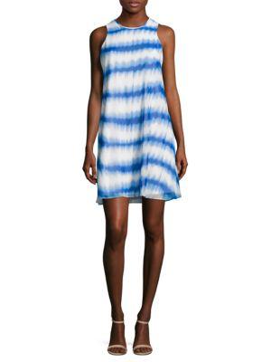 Tie-Dye Striped Shift Dress by Calvin Klein