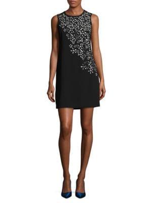 Lasercut Floral Sheath Dress by Calvin Klein
