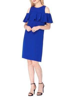 Cotton Bust Brilliant Dress by Tahari Arthur S. Levine