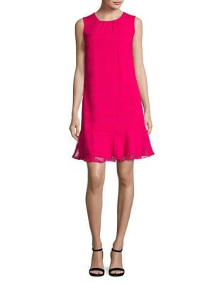Dotted Flounce Dress by Karl Lagerfeld Paris