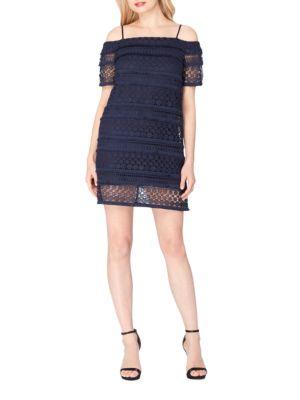 Lace Cold Shoulder Dress by Tahari Arthur S. Levine
