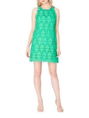 Scalloped Lace Shift Dress by Adrianna Papell