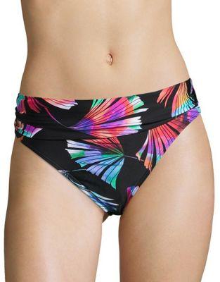 Printed Hipster Bikini Bottom by Nanette Lepore
