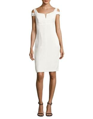 Photo of Adrianna Papell Crepe Cold Shoulder Empire Dress
