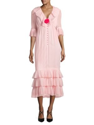 Ruffled Midi Dress – Vogue 125 Rose Collection by Karl Lagerfeld Paris