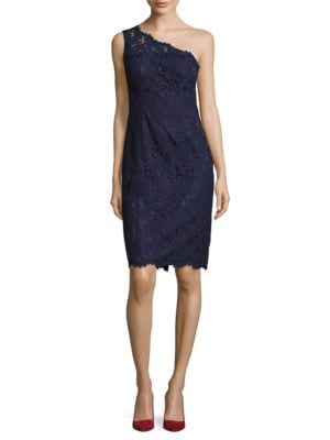 One Shoulder Lace Dress by Eliza J