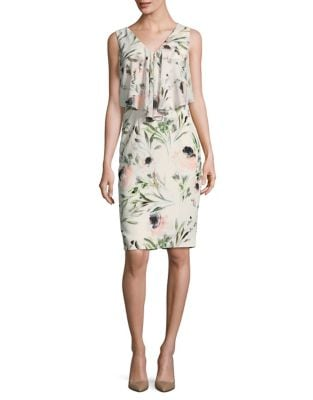 Floral Sleeveless Sheath Dress by Phase Eight