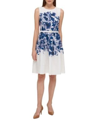 Hanging Garden Cotton Fit-and-Flare Dress by Tommy Hilfiger