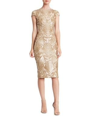 Karina Sequined Sheath Dress by Dress The Population