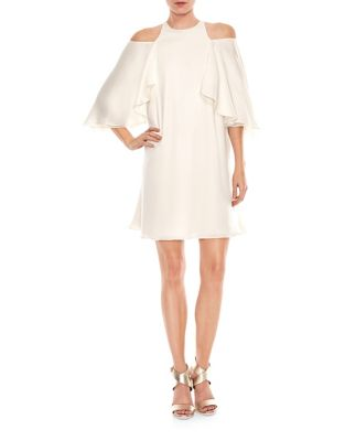 Viridian Cutout Back Cold Shoulder Dress by Halston Heritage
