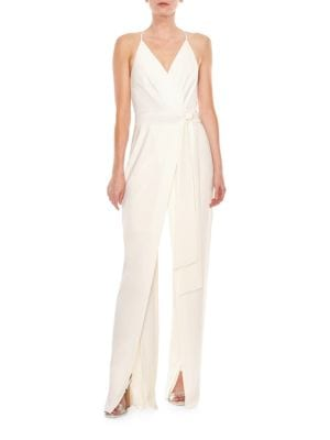 Faux Wrap Jumpsuit by Halston Heritage
