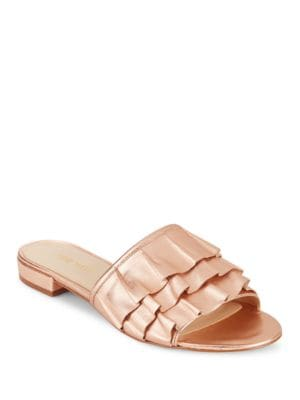 Ivarene Ruffled Slides by Nine West