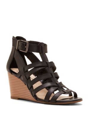 Cloe Open-Toe Leather Sandals by Jessica Simpson