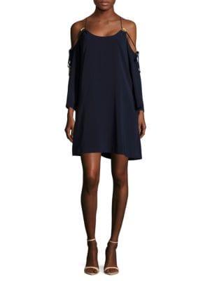 Long-Sleeve Cold-Shoulder Dress by RACHEL Rachel Roy