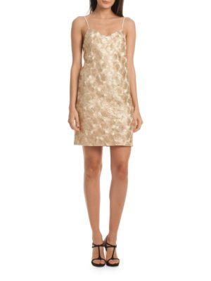 Highlight Metallic Slip Dress by Trina Turk