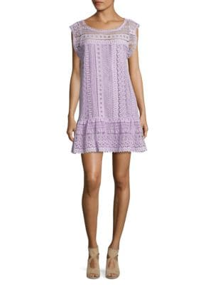 Photo of BB Dakota Short Sleeve Crochet Shift Dress