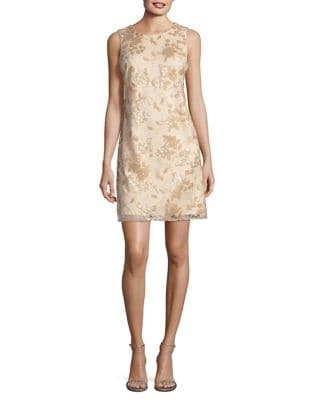 Embroidered Shift Dress by Vince Camuto