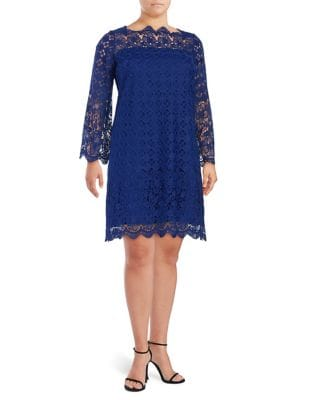 Photo of Adrianna Papell Plus Floral Lace Dress