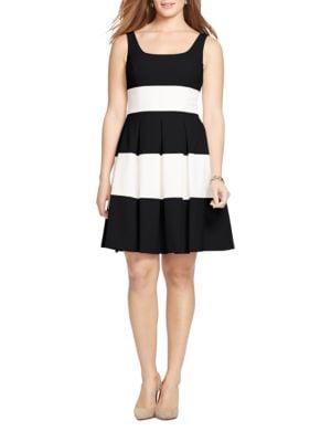 Two-Tone Striped Dress by Lauren Ralph Lauren