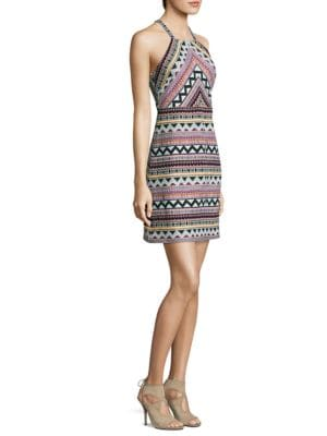 Jacquard Halter Dress by Laundry by Shelli Segal