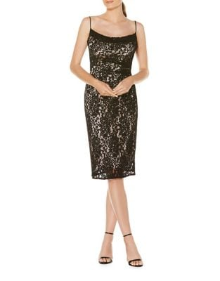 Lace Midi Cocktail Dress by Laundry by Shelli Segal