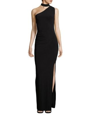 Choker One-Shoulder Gown by Laundry by Shelli Segal