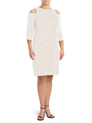 Cold Shoulder Lace Dress? ? by Eliza J
