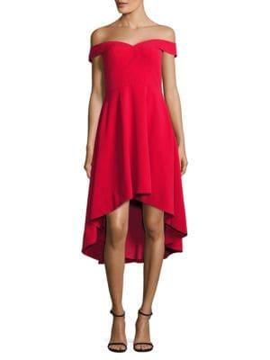 Sweetheart High-Low Cocktail Dress by Aidan Aidan Mattox