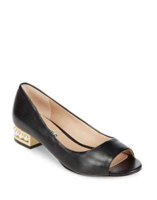 Patent Leather Peep Toe Heels by Karl Lagerfeld Paris