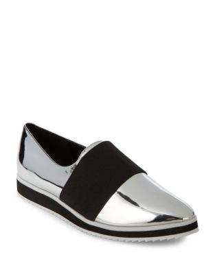 Metallic Slip-On Loafers by Karl Lagerfeld Paris