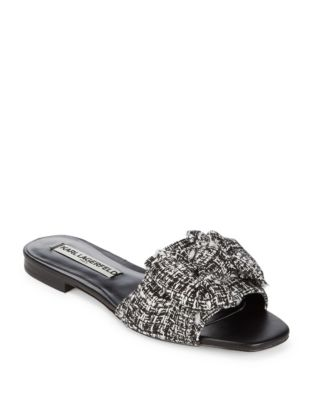 Rosie Textile Bow Slides by Karl Lagerfeld Paris