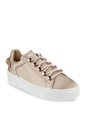 Rae3 Satin Platform Sneakers by KENDALL + KYLIE