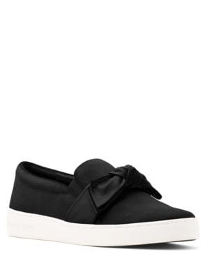 Willa Bow-Accent Leather Slip-On Shoes by MICHAEL MICHAEL KORS