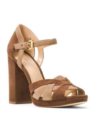 Annaliese Suede Platform Sandals by MICHAEL MICHAEL KORS
