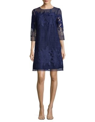 Photo of Adrianna Papell Embroidered Overlay Dress