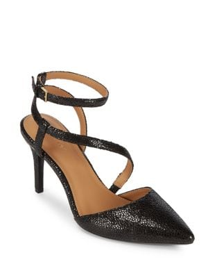 Photo of Ganya Textured Leather Heels by Calvin Klein - shop Calvin Klein shoes sales