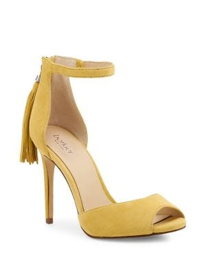 Anna Suede Peep Toe Pumps by Botkier New York